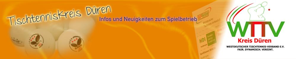 Westdeutscher Tischtennis Verband Kreisverband Düren
